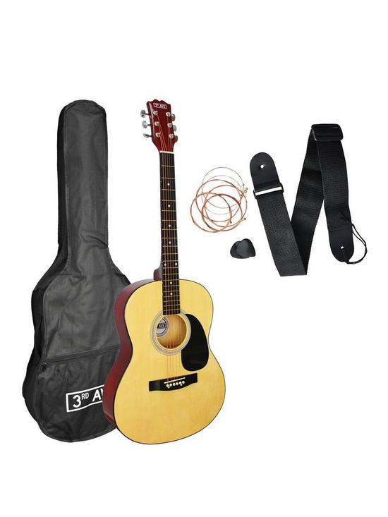 8246dd4045b 3rd Avenue Acoustic Guitar Pack - Natural with Free Online Music Lessons |  very.co.uk