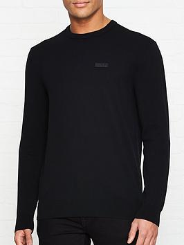 hugo-san-claudio-knitted-jumper-black