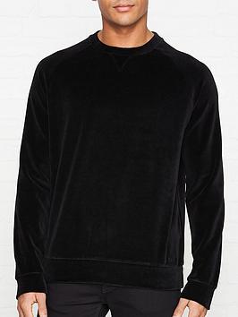 hugo-delvet-velvet-sweatshirt-black