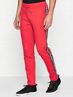 hugo-dusten-logo-tape-joggers-red