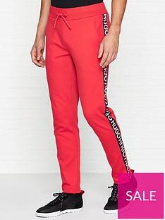 hugo-dusten-logo-tape-joggers-red