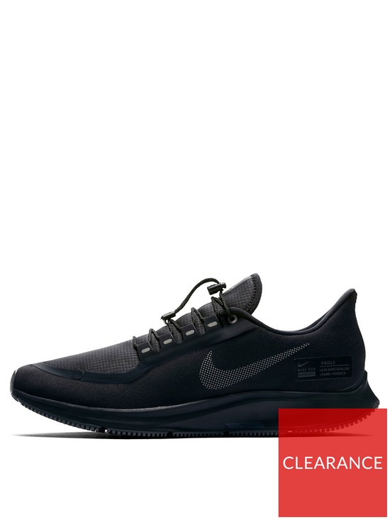 f13a7abd35bb7 Nike Air Zoom Pegasus 35 Shield Trainers - Black