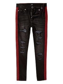 river-island-boys-danny-skinny-ripped-tape-jeans-black