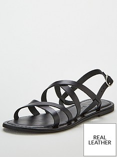cc68ed44a V by Very Hannah strappy leather flat sandal