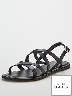 fa246500cbaa V by Very Hannah strappy leather flat sandal