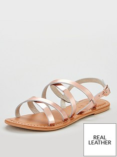 23c7a5e3ffa5 V by Very Hannah strappy leather flat sandal