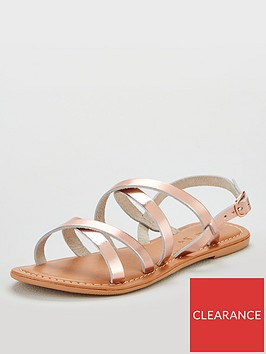 v-by-very-hannah-strappy-leather-flat-sandals-rose-gold-metallic