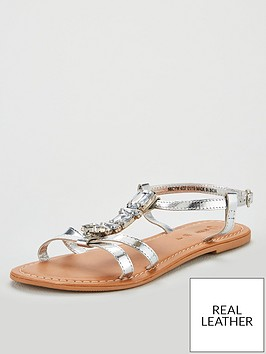 v-by-very-honey-jewel-trim-leather-flat-sandal