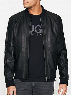 hugo-lachlan-leather-bomber-jacket-black