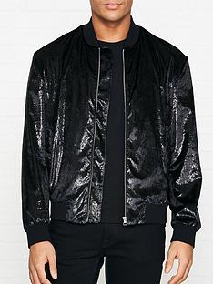 hugo-bestino-1912-shiny-velvet-bomber-jacket-black