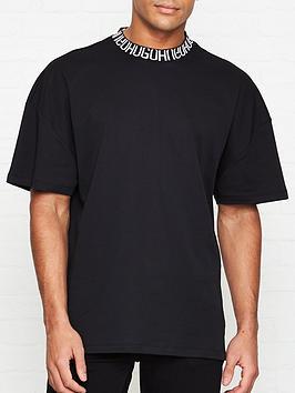 hugo-dougy-hugo-collar-t-shirt-black