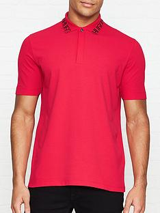 hugo-dewayne-logo-collar-pique-polo-shirt-red
