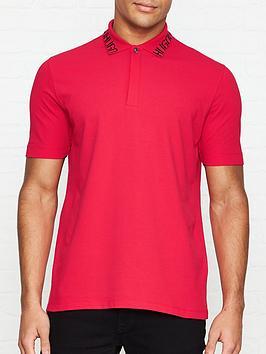 hugo-dewayne-logo-collar-pique-polo-shirt-red