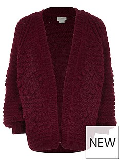 river-island-girls-red-bobble-heart-knit-cardigan