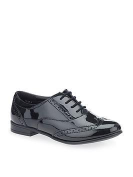 start-rite-matilda-older-girls-patent-brogue-shoe-black