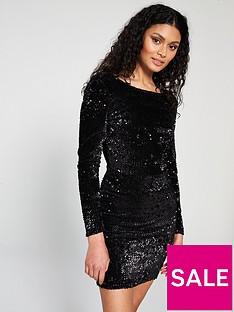 Mango Sparkle Low Back Dress 05d64c0cf