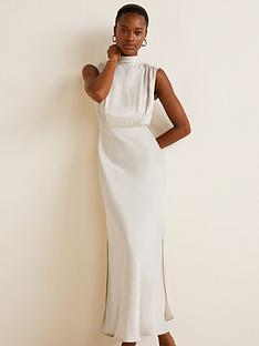 mango-tie-back-maxi-dress-ivory-white