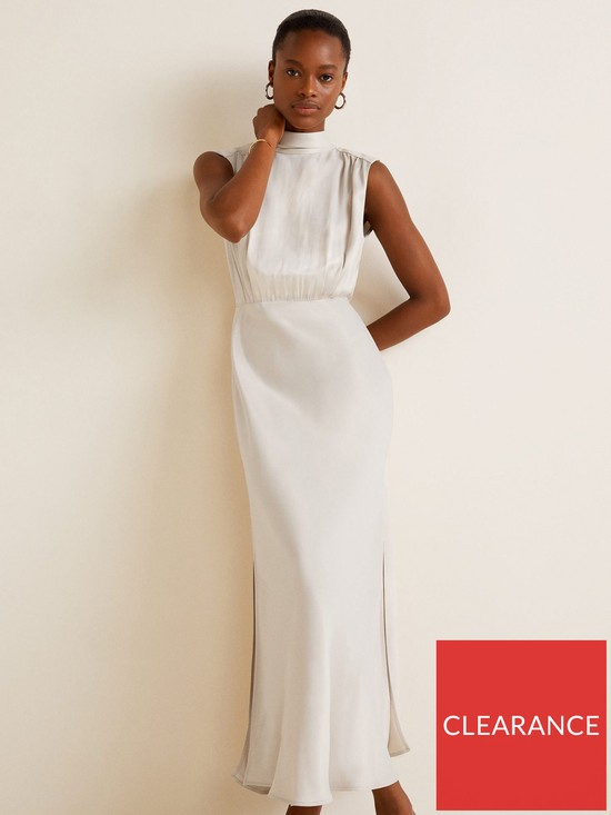 4b2f1f186516bc Mango Tie Back Maxi Dress - Ivory White | very.co.uk