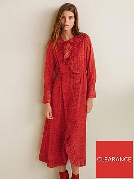 mango-snake-print-midi-dress-red