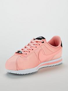 new arrivals e2ab4 db0b0 Nike Cortez Basic Text Valentines Day Junior Trainers - Pink