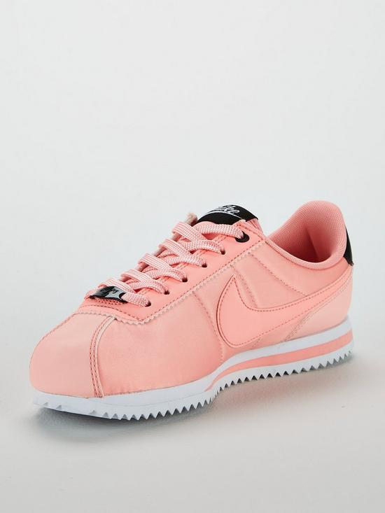 new arrivals c3b16 eed3e Nike Cortez Basic Text Valentines Day Junior Trainers - Pink