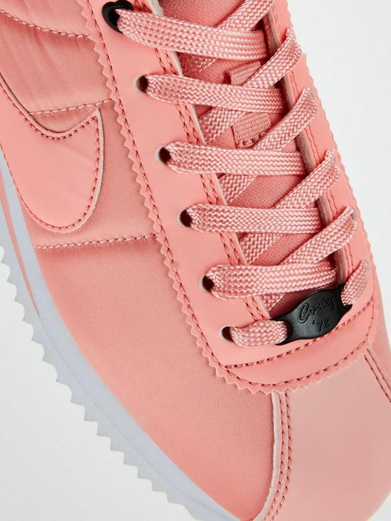 57491a33da0f28 ... Nike Cortez Basic Text Valentines Day Junior Trainers - Pink. View  larger