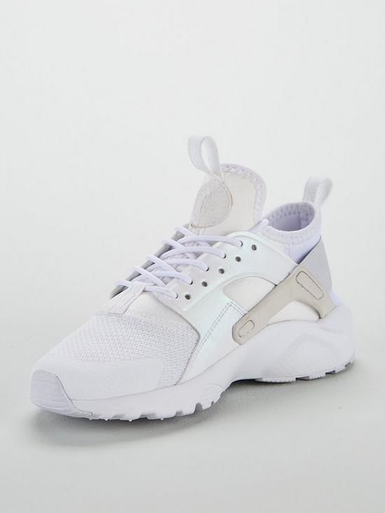 67c14e4130 Nike Air Huarache Run Ultra Junior Trainers - White Iridescent ...