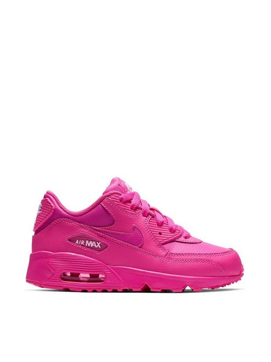 huge discount abcd3 a4914 Nike Air Max 90 Ltr Gp Childrens Trainers - Pink