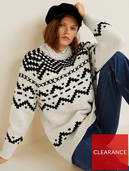 mango-fairisle-jumper-cream