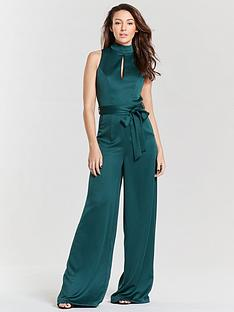 michelle-keegan-high-neck-soft-woven-keyhole-jumpsuit-green