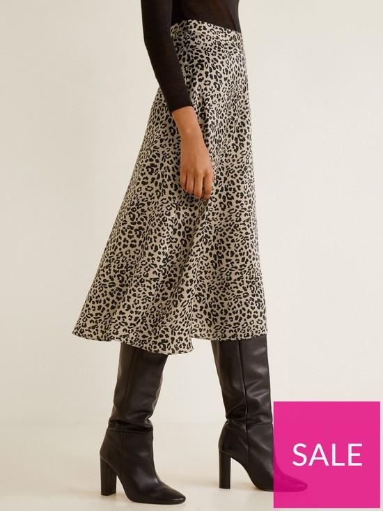 ccbd339207 Mango Leopard Midi Skirt - Print | very.co.uk