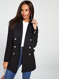v-by-very-longline-military-blazer