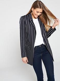 7907f1420ed V by Very Stripe Longline Workwear Jacket