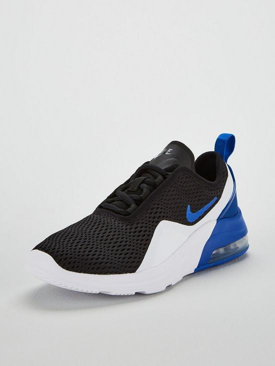 327ae4e5d09fff Nike Air Max Motion 2 Junior Trainers - Black White Blue