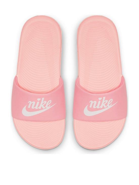 best service 075a6 52f04 Nike Kawa Junior Valentines Day Sliders - Pink White
