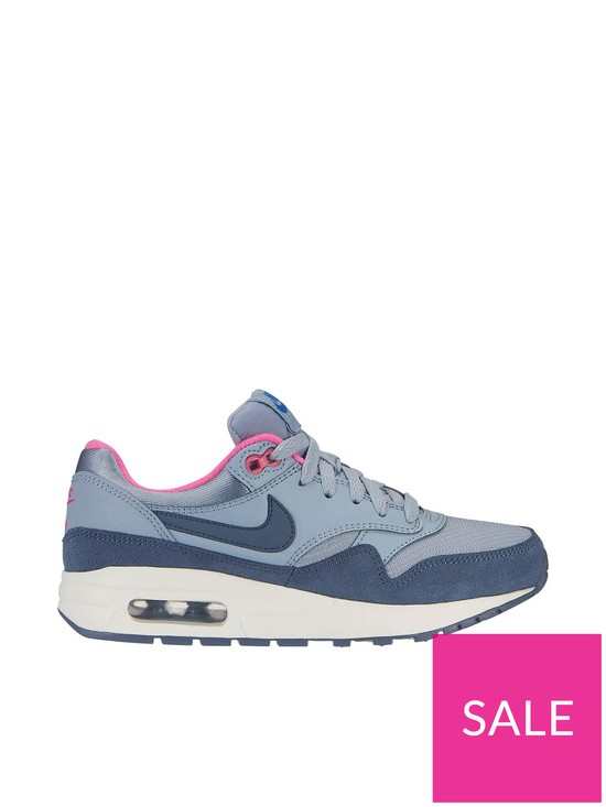 8b51def8fbe4e Nike Air Max 1 Gg Junior Trainers - Pale Blue | very.co.uk