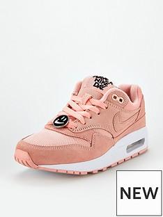 huge sale aae01 b2e89 Nike Air Max 1 Junior Trainers - Pink