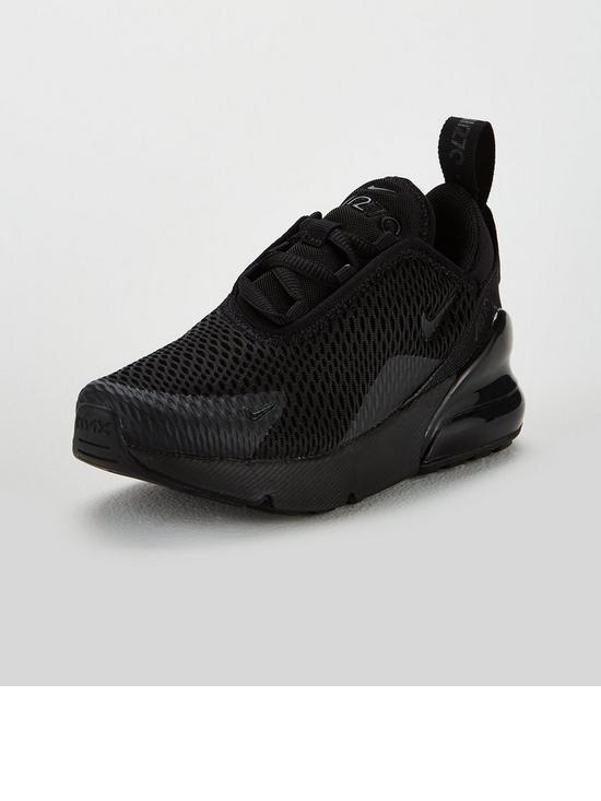 pretty nice c6f3d 8535b Nike Air Max 270 Bg Childrens Trainers - Black