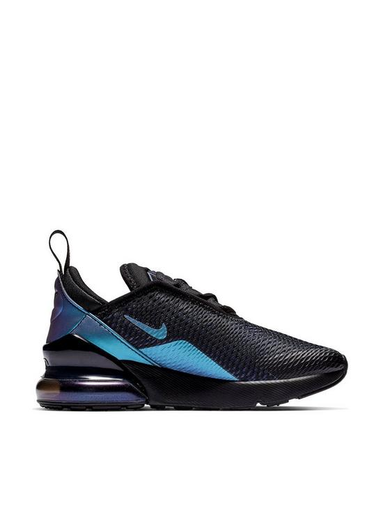 2cbdcb04810a0 Nike Air Max 270 Bg Childrens Trainers - Black Multi