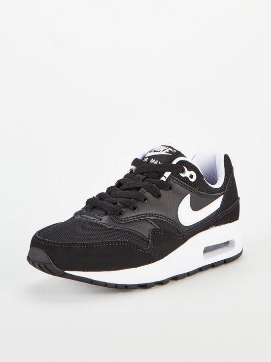 official photos efe6a fbeb1 Nike Air Max 1 Bg Junior Trainers - Black