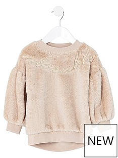 river-island-mini-girls-cream-faux-fur-sweater