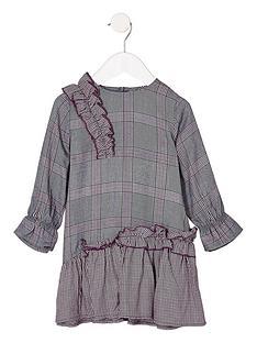river-island-mini-check-peplum-dress