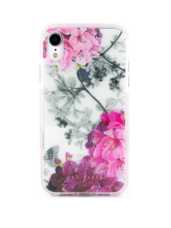 164a49a16 Ted Baker Ted Baker Anti Shock case iPhone XR LCD - BABYLON NICKEL ...
