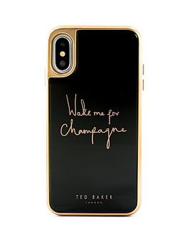 ted-baker-iphone-xs-glass-inlay-champagne-black