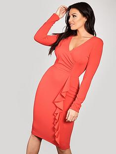 sistaglam-loves-jessica-ruffle-side-bodycon-wrap-midi-dress-red