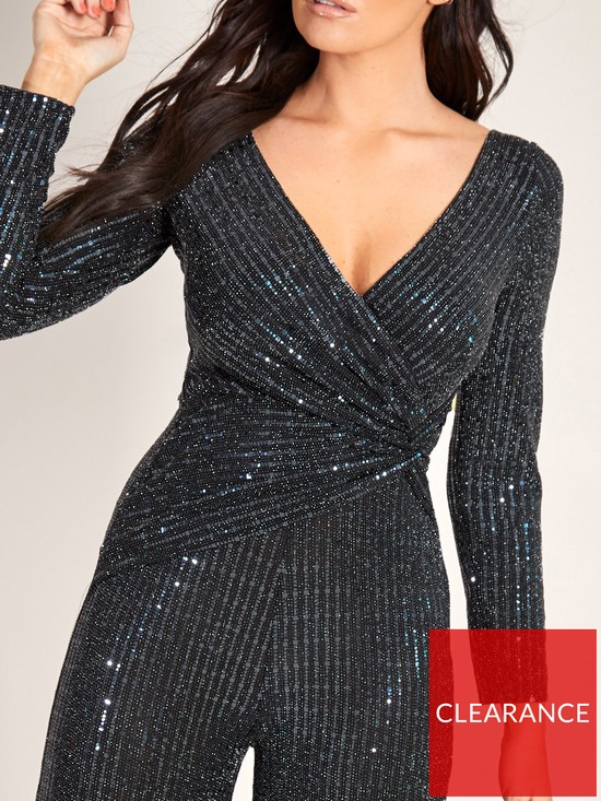 8ab4d52b62cf ... Sistaglam Loves Jessica Sequin Wide Leg Jumpsuit - Black. 2 people have  looked at this in the last couple of hrs.