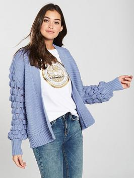 river-island-river-island-bobble-sleeve-cardigan-blue