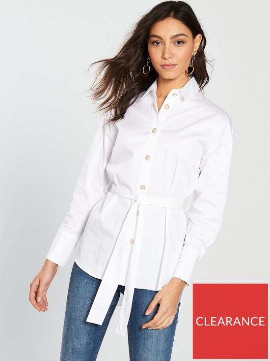 14c2a4dbdb934 River Island Oversized Shirt - White