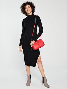 river-island-river-island-ribbed-knit-midi-dress-black