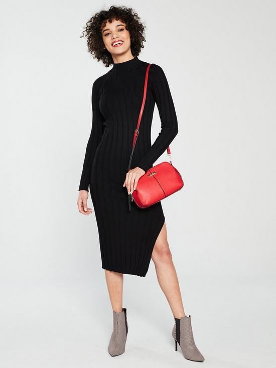 a840c5c25d9b River Island River Island Ribbed Knit Midi Dress - Black